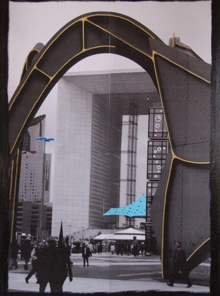 acrylique sur photocopie (60×80)